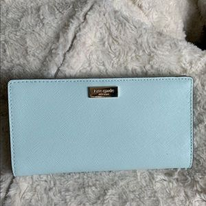 Kate Spade wallet in Robins egg blue